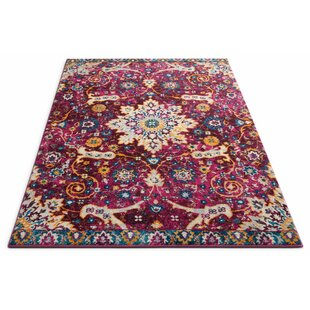 Best Reviews Binstead Wonderly Modern Persian Oriental Floral Lavendar Area Rug By Bungalow Rose