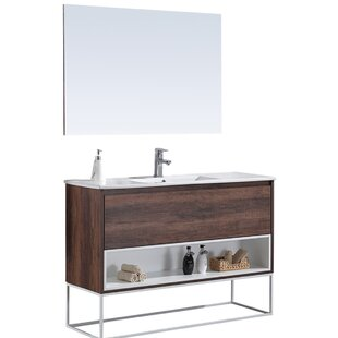 Chewning 48 Single Bathroom Vanity Set with Mirror By Orren Ellis
