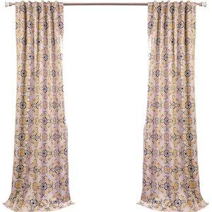 Soliel Nature/Floral Blackout Thermal Rod Pocket Single Curtain Panel