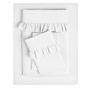 Albright Ruffle Hem Solid Color Sheet Set