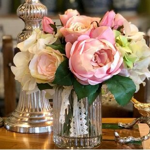 Soft Romantic Bouquet of Roses, Hydrangea and Peonies