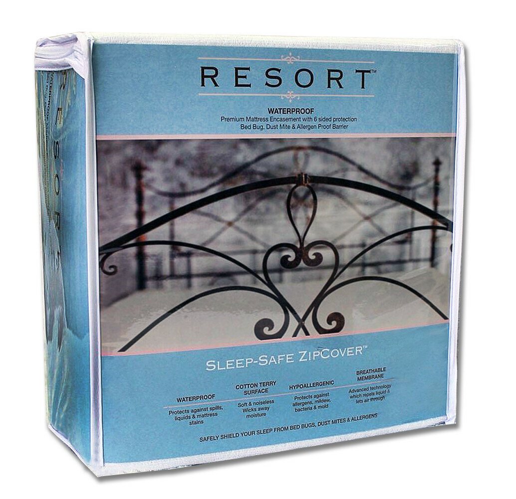 SleepSafeBedding Resort Waterproof, Bed Bug, Dust Mite and Allergen ...