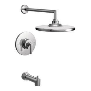 Arris Pressure Balance Tub and Shower Faucet Trim with Lever Handle ByMoen