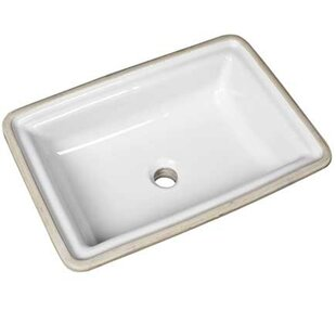 Top Brentwood Vitreous China Rectangular Undermount Bathroom Sink with Overflow ByMansfield Plumbing Products