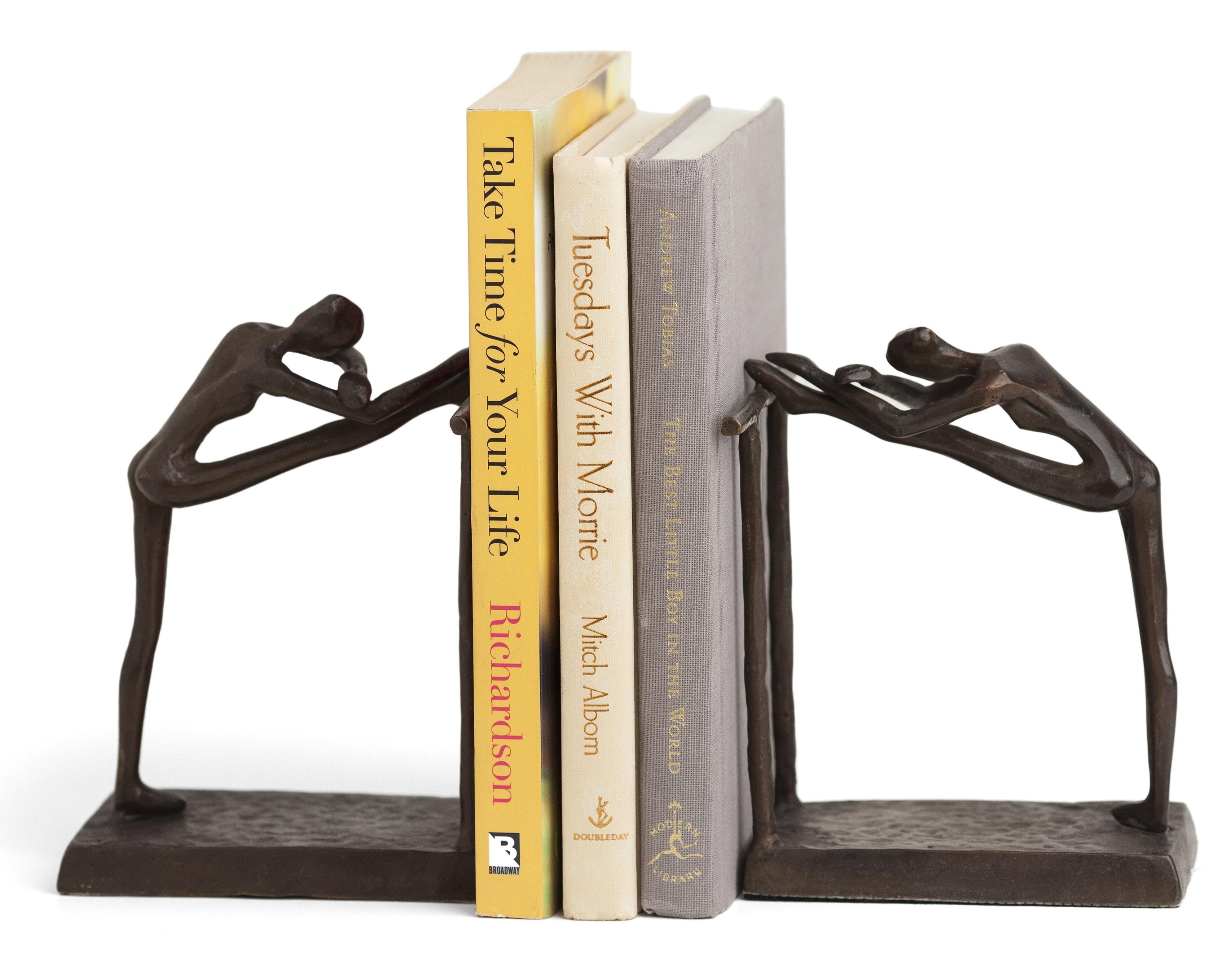 Darby Home Co Dorine Contemporary Stretch Metal Bookend Reviews Wayfair