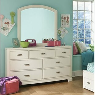 Jami 7 Drawer Double Dresser with Mirror by Harriet Bee