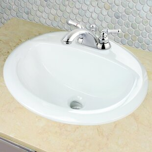 Nantucket Sinks Great Point Vitreous China Oval Drop-In Bathroom Sink with..