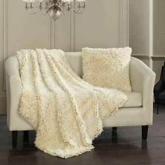 Kess InHouse Oriana Cordero Amalfi Coast Blue White Fleece Throw Blanket 80 by 60