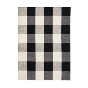 Gage Hand-Woven Black/Ivory Area Rug