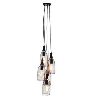Williston Forge Hodder 5-Light Cluster pendant