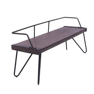 Abigale Low Back Metal Bench by Laurel Foundry Modern Farmhouse