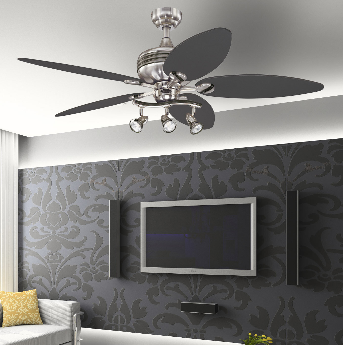 Latitude Run 52 Fredericksen 5 Blade Standard Ceiling Fan And Light Kit Included Reviews Wayfair