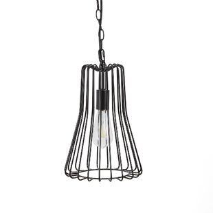 Barnsley Metal Wire 1-Light Bell Pendant by Wrought Studio
