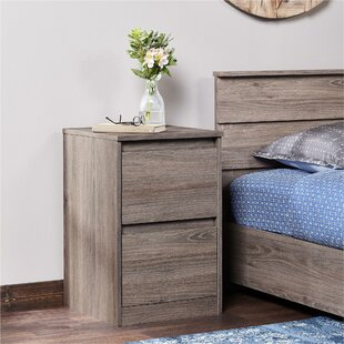 Nina 2 Drawer Nightstand by Union Rustic