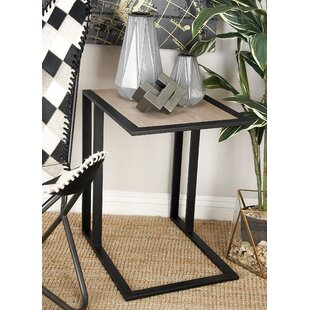 Metal and Wood End Table by Cole & Grey