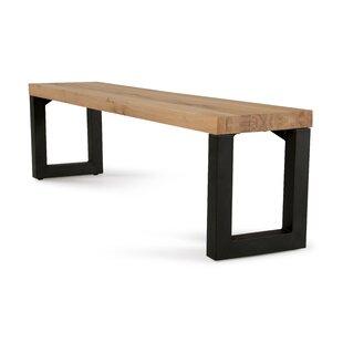 Gracie Oaks Jagan Metal and Wood Bench