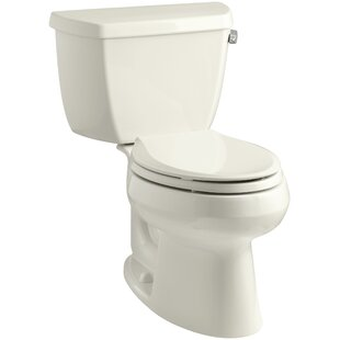 Kohler Wellworth Classic Two-Piece Elongated 1.28 GPF Toilet with Class Five Flush Technology and Right-Hand Trip Lever