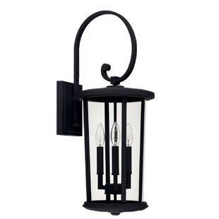 Brutus 3-Light Outdoor Wall Lantern By Alcott Hill Outdoor Lighting
