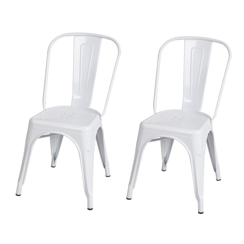 White tolix chairs #tolixchairs #Frenchbistro #FrenchFarmhousedecor