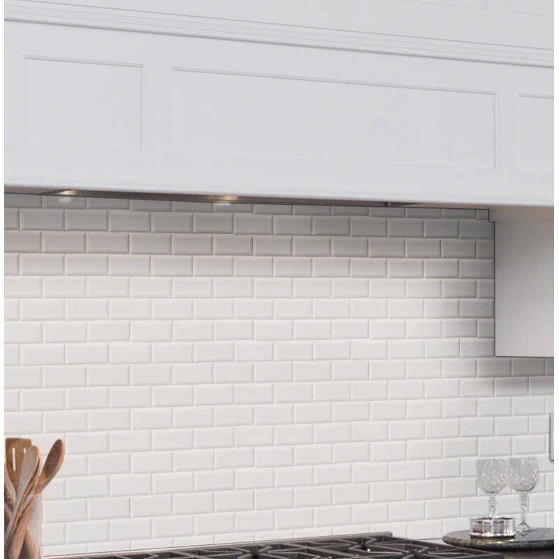 "beveled subway tile design | MSI Staggered Beveled 2"" x 4"" Porcelain Subway Tile in ..."