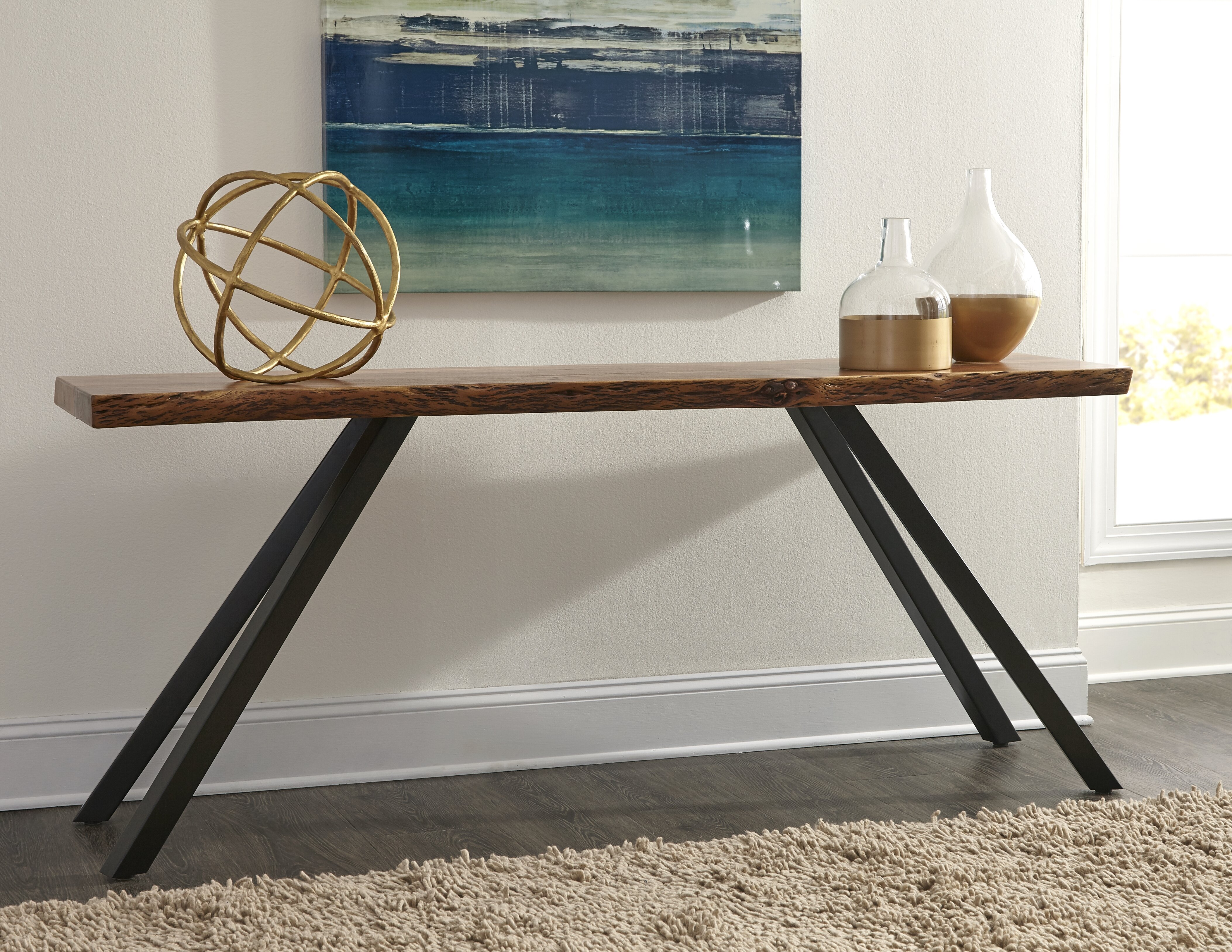 Console Table Live Edge