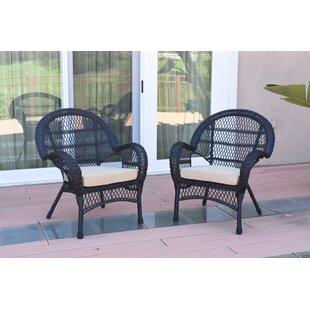 Black Wicker Indoor Chair | Wayfair