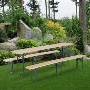 Samee Folding Stainless Steel Picnic Bench By Sol 72 Outdoor