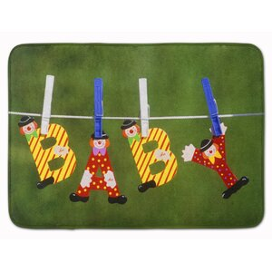 Wilma New Baby Clown Clothesline Memory Foam Bath Rug