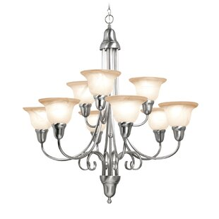 Fleur De Lis Living Willhite 9-Light Shaded Chandelier