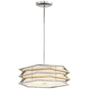 Everly Quinn Alethea Modern 1-Light LED Geometric Pendant