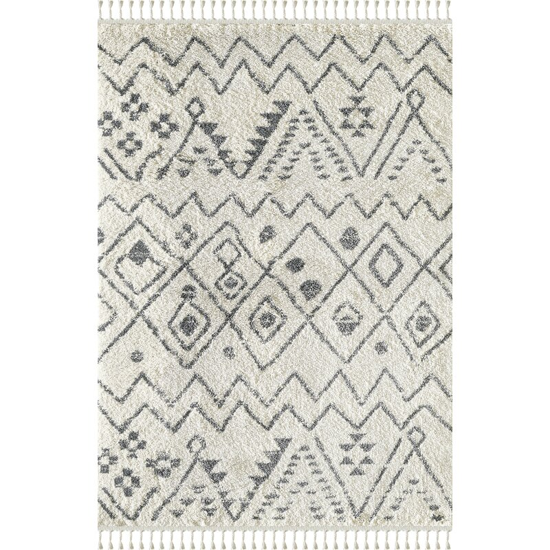 Union Rustic Abani Willow Wil100a Moroccan Tribal Print Black And Ivory Area Rug Wayfair Ca