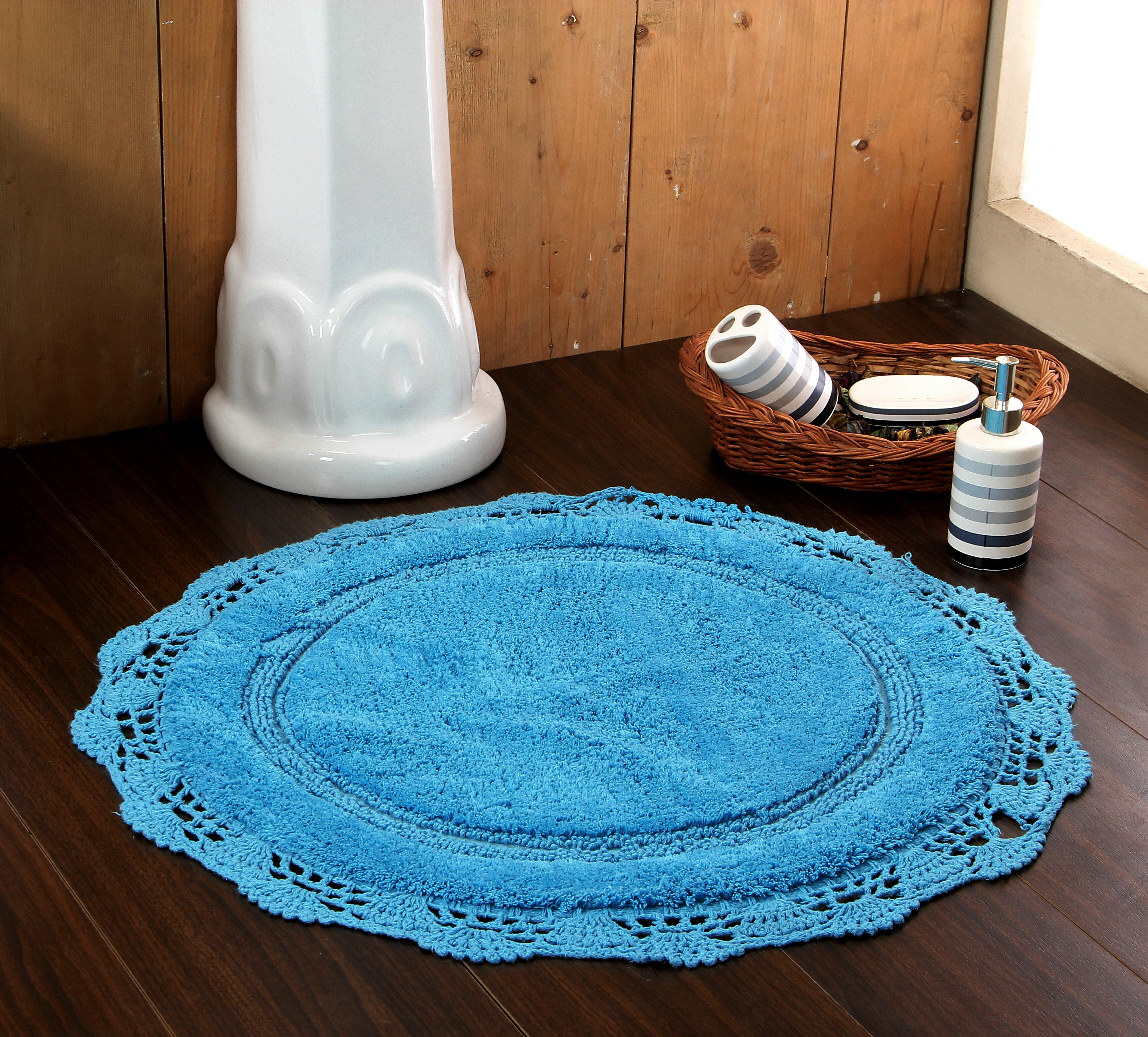Ophelia Co Wingert Round Crochet Designer Circle 100 Cotton Non Slip Bath Rug Reviews Wayfair