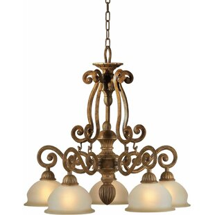 Fleur De Lis Living Boughner 5-Light Shaded Chandelier