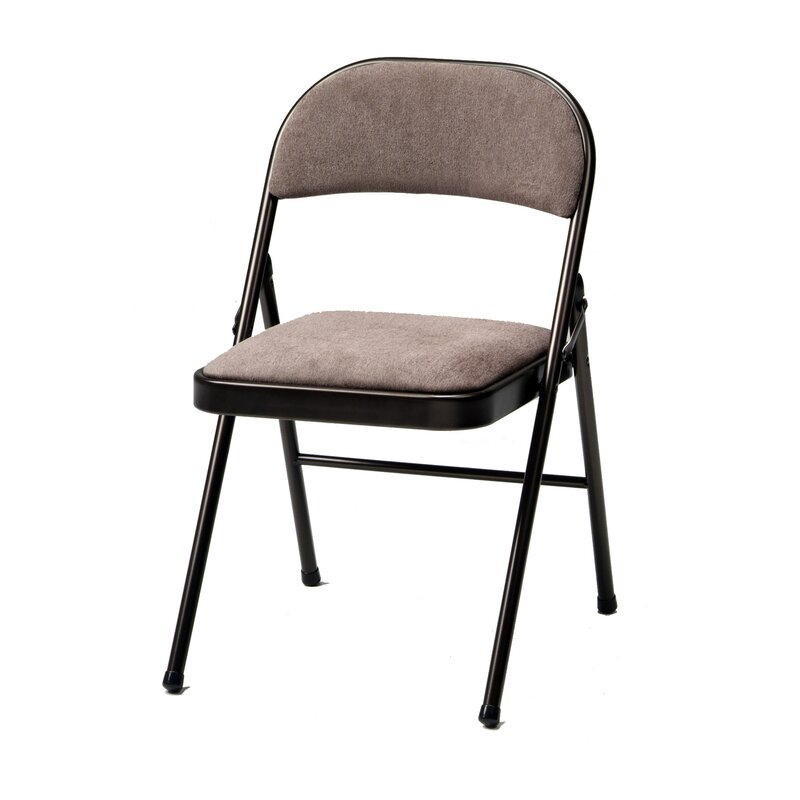 Meco Deluxe Fabric Padded Folding Chair Reviews Wayfair