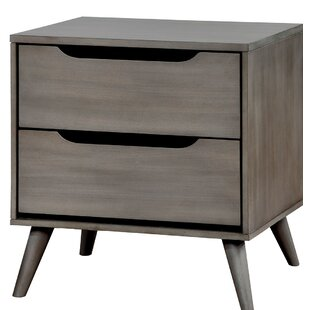 Union Rustic Caswell Transitional Wood 2 Drawer Nightstand