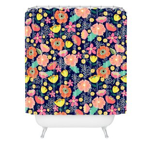 Hello Sayang Night Wild Flowers Single Shower Curtain