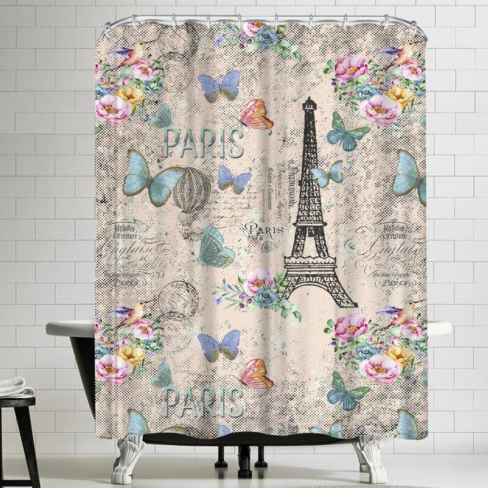 Vintage Paris Themed Bathroom Bath Eiffel Tower Shower