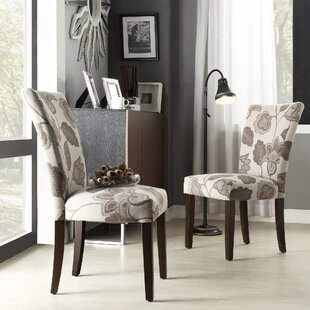 Doerr Upholstered Dining Chair Set of 2 by Charlton Home