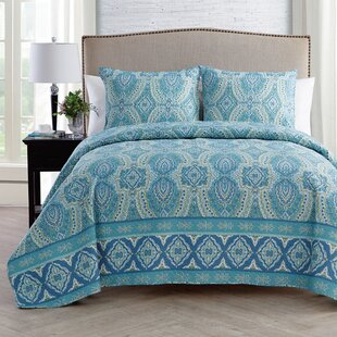 Atoll 3 Piece Reversible Quilt Set