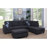Mendoza 103.5 Right Hand Facing Sectional with Ottoman by Ebern Designs