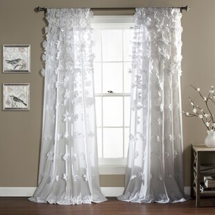 Clarkstown Solid Sheer Rod Pocket Single Curtain Panel by Ophelia & Co.