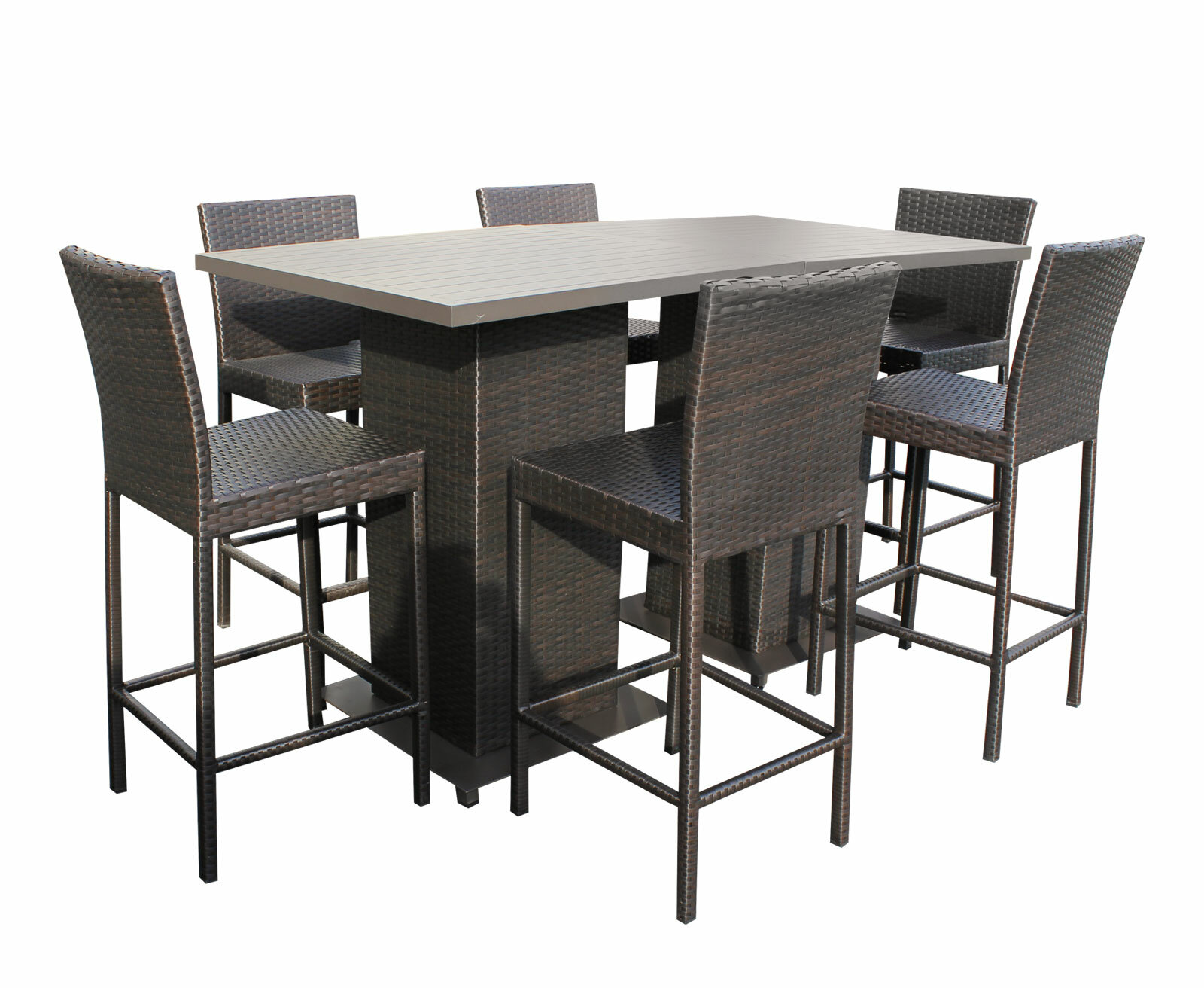 Picture of: Sol 72 Outdoor Tegan 8 Piece Bar Height Dining Set Reviews