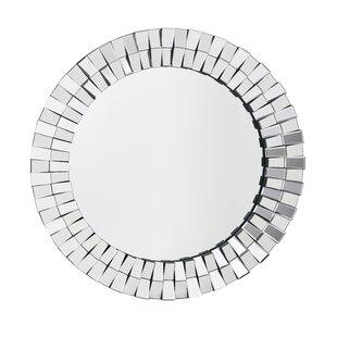 House of Hampton Castanon Round Mosaic Wall Mirror