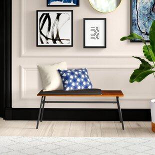 Ridgley Faux Leather Bench by Mercury Row