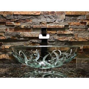 Compare Adria Glass Circular Vessel Bathroom Sink ByElegant Glass Engraving Studio