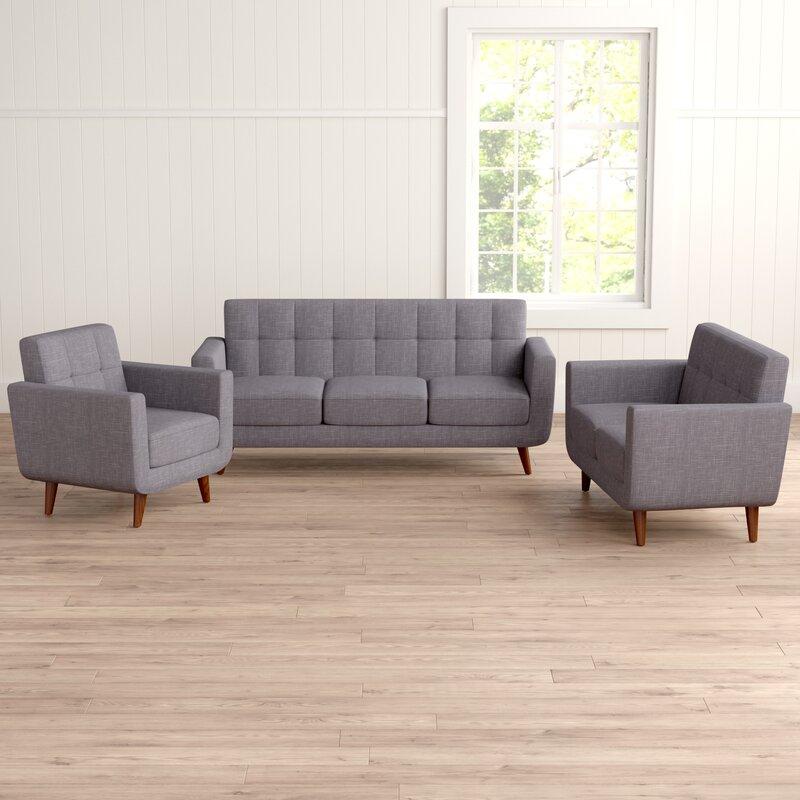 Nilson 3 Piece Living Room Set