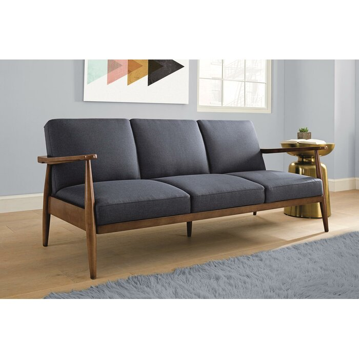 Julia Mid-Century Modern Convertible Sofa