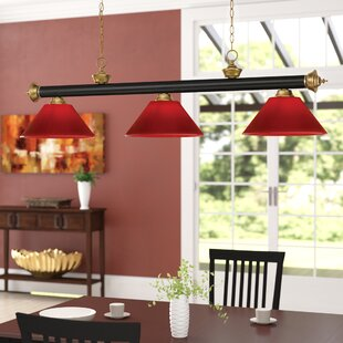 Red Barrel Studio Zephyr 3-Light Cone Shade Pool Table Light with Hanging Chain