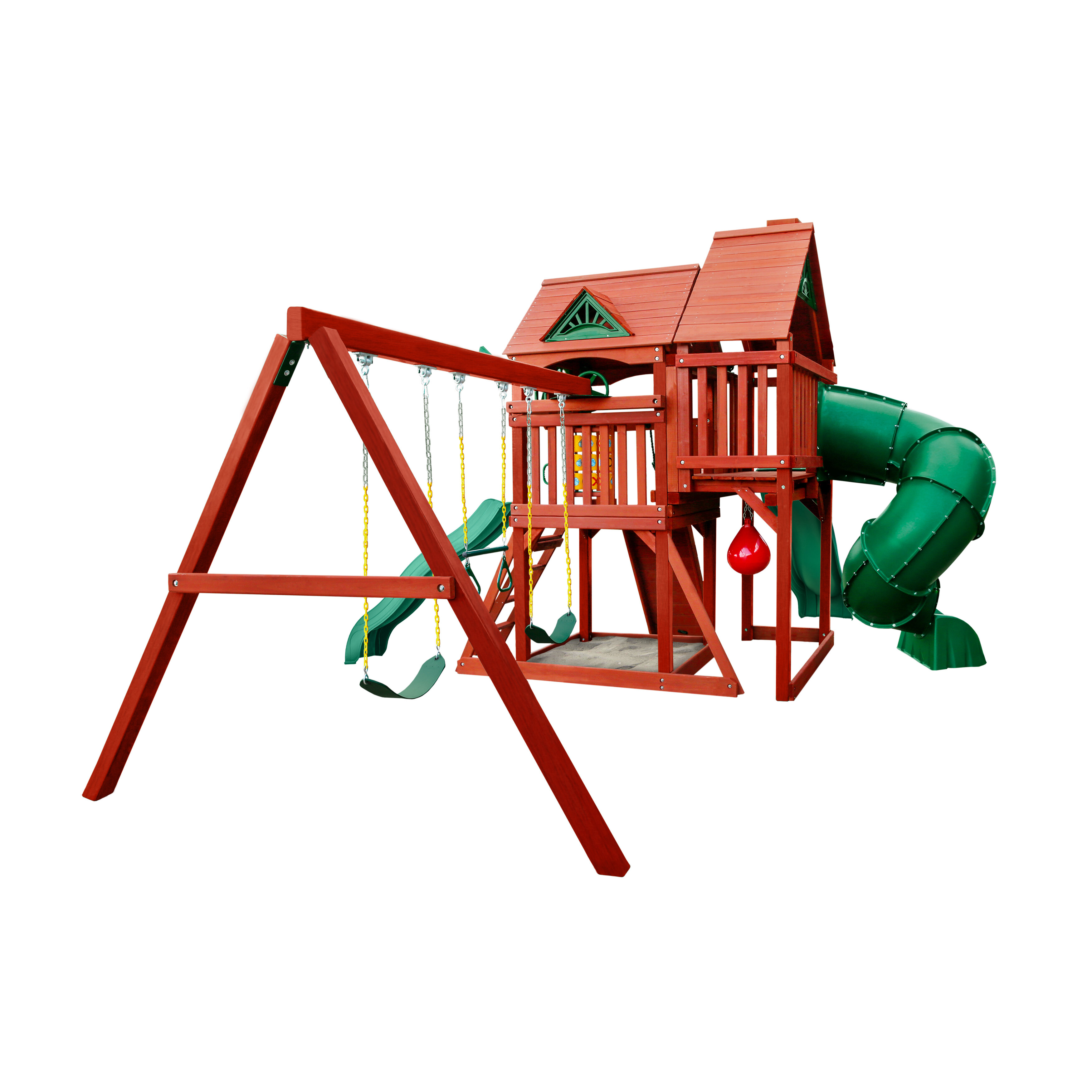 Gorilla Playsets Five Star Ii Deluxe Cedar Swing Set Wayfair