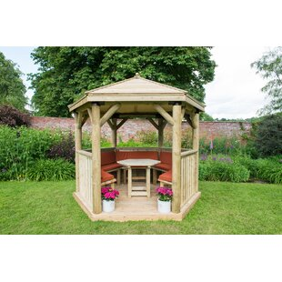 Furnished 3.3m X 2.9m Wooden Gazebo With Timber Roof By Sol 72 Outdoor